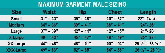 MMV Garment size